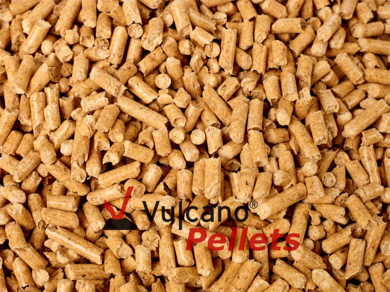1.080 kg! SOMMERPREIS! Vulcano Pellets EN Plus A1 Gold 72x15kg 6 mm auf Palette