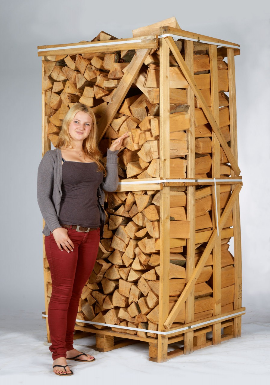 Aktionspreis bis 30.11.20 Brennholz aus gemischtem Laubholz 30-33 cm 3,2 Schüttmeter